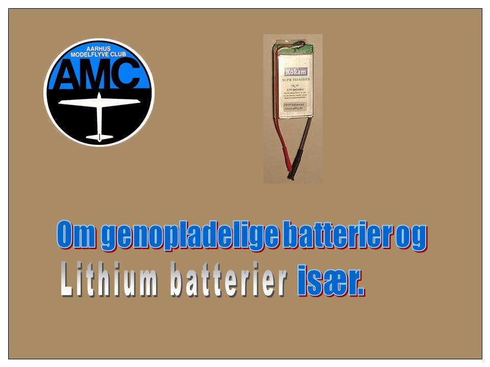 Om genopladelige batterier og