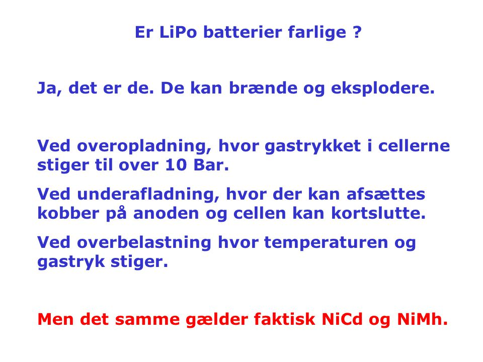 Er LiPo batterier farlige