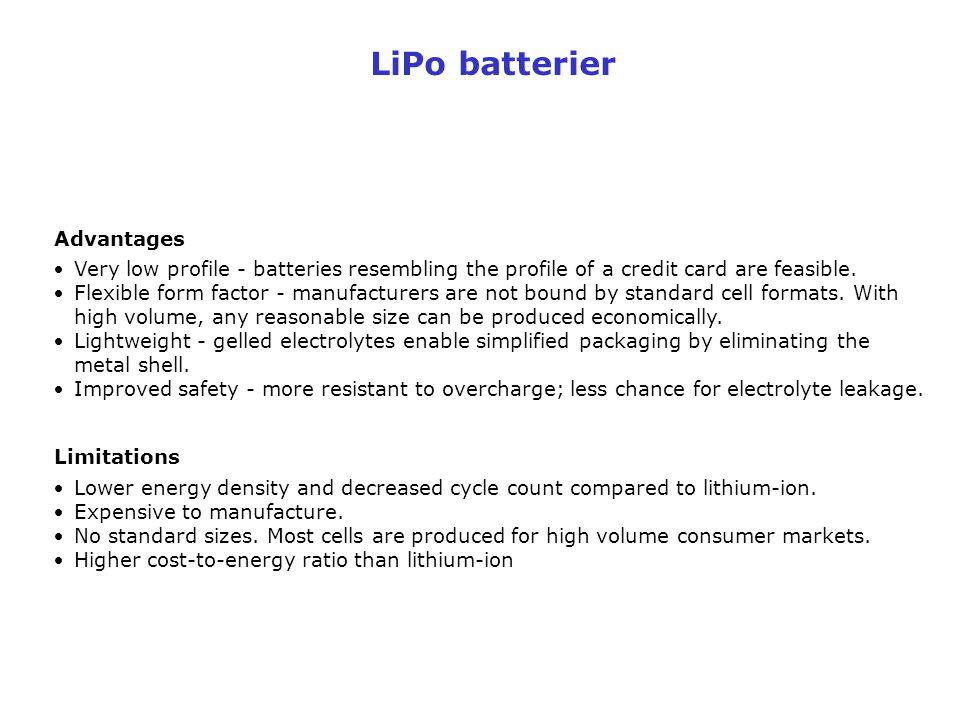 LiPo batterier Advantages