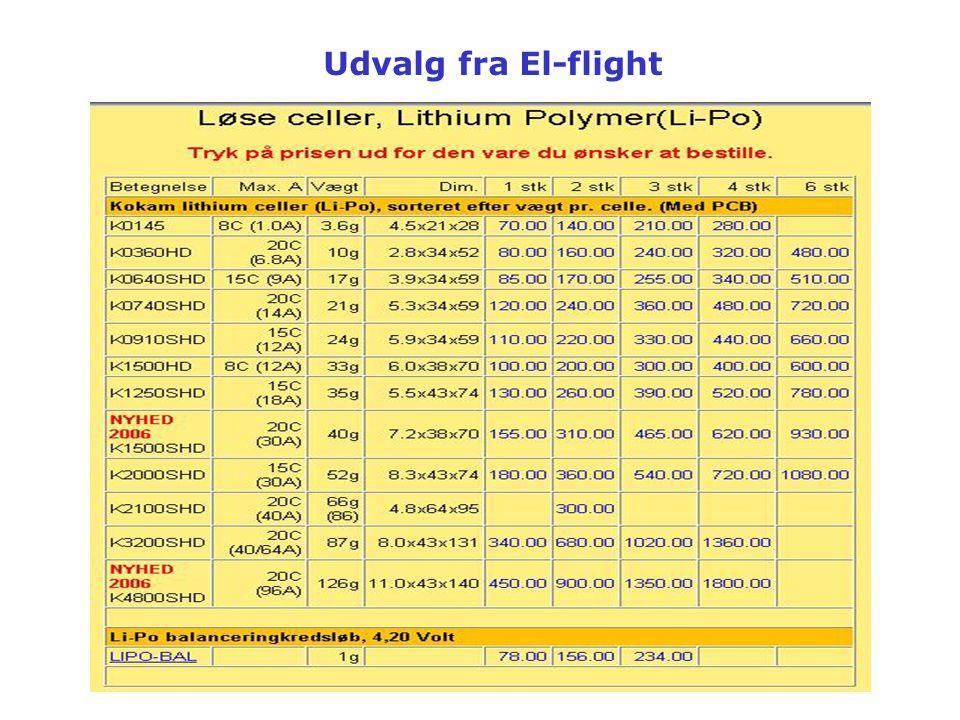 Udvalg fra El-flight