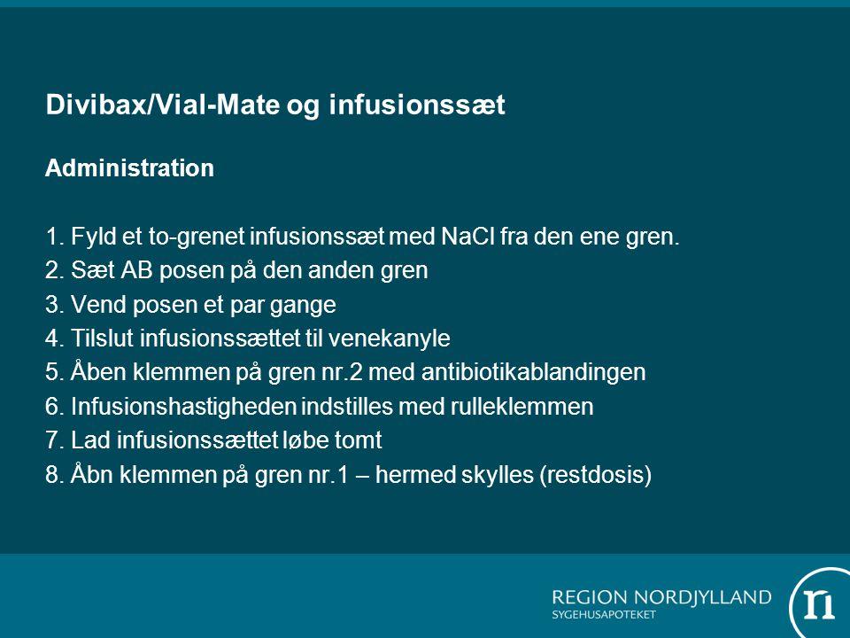 Divibax/Vial-Mate og infusionssæt