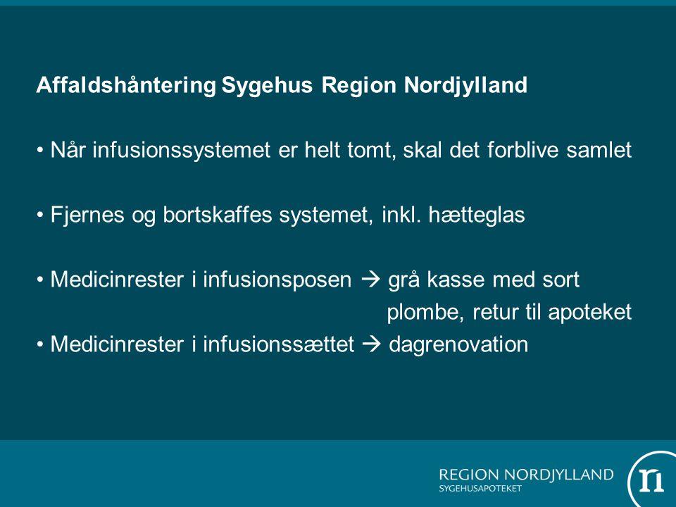 Affaldshåntering Sygehus Region Nordjylland