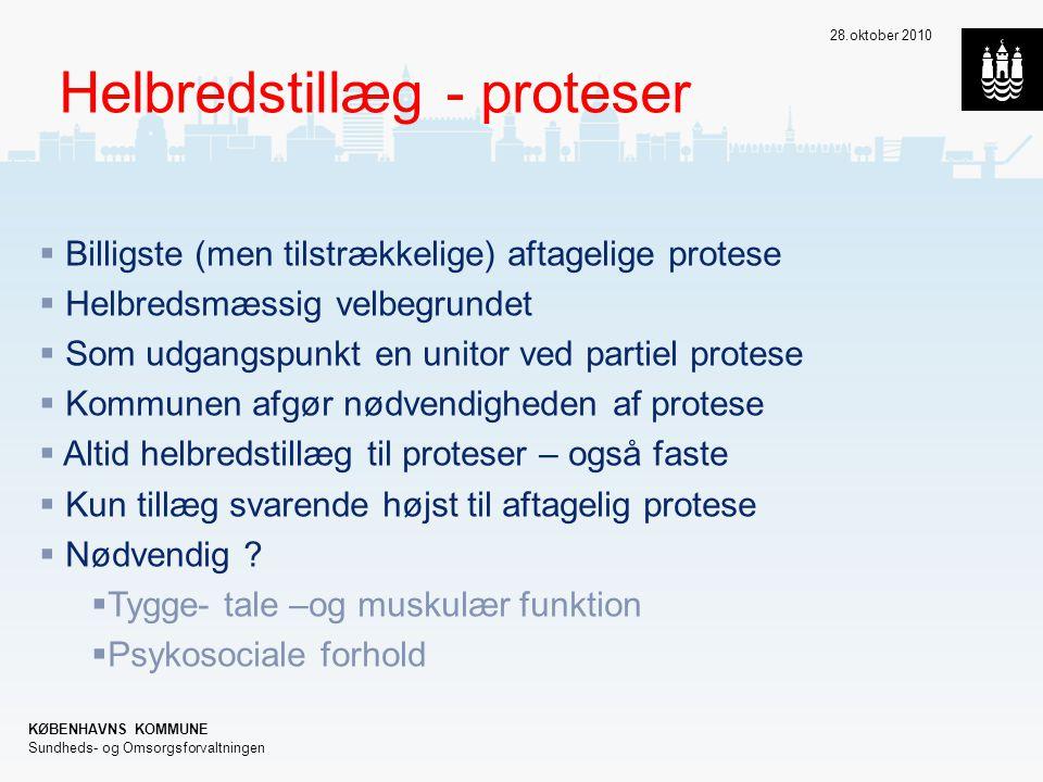 Helbredstillæg - proteser