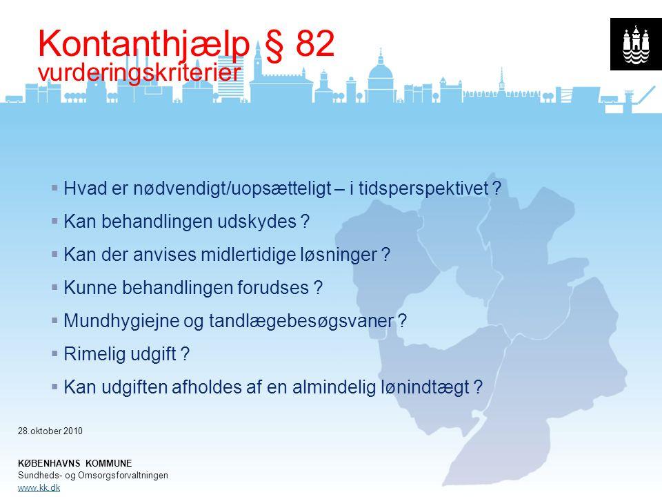 Kontanthjælp § 82 vurderingskriterier