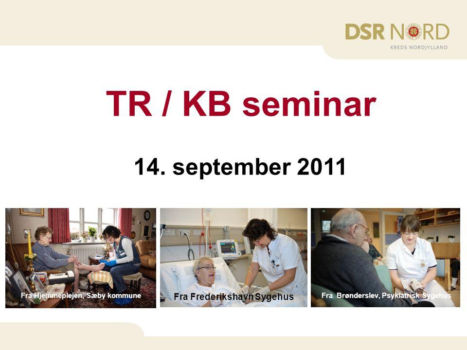 TR / KB seminar 14. september 2011 Fra Frederikshavn Sygehus