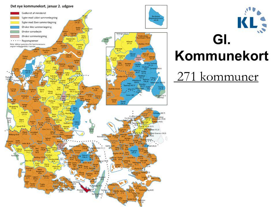 Gl. Kommunekort 271 kommuner