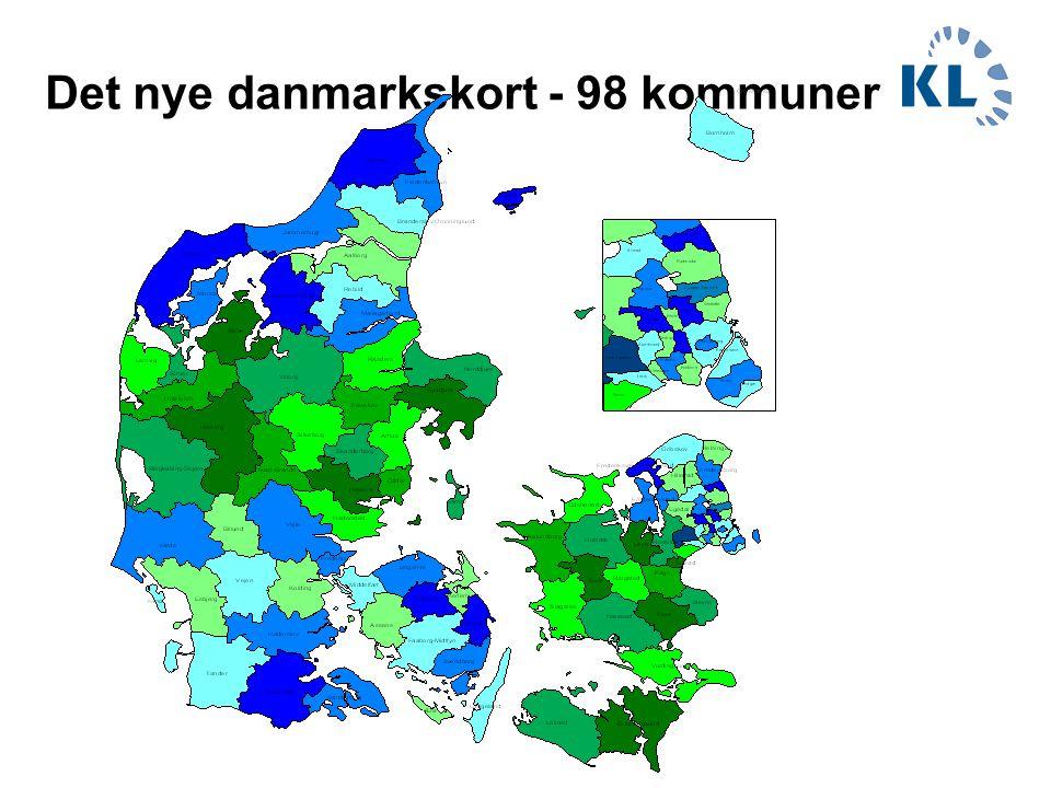 Det nye danmarkskort - 98 kommuner