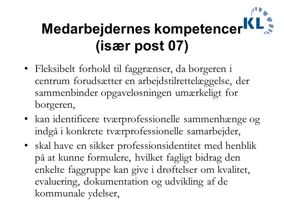 Medarbejdernes kompetencer (især post 07)