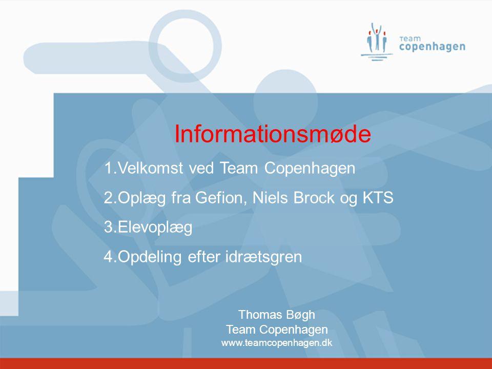 Informationsmøde Velkomst ved Team Copenhagen