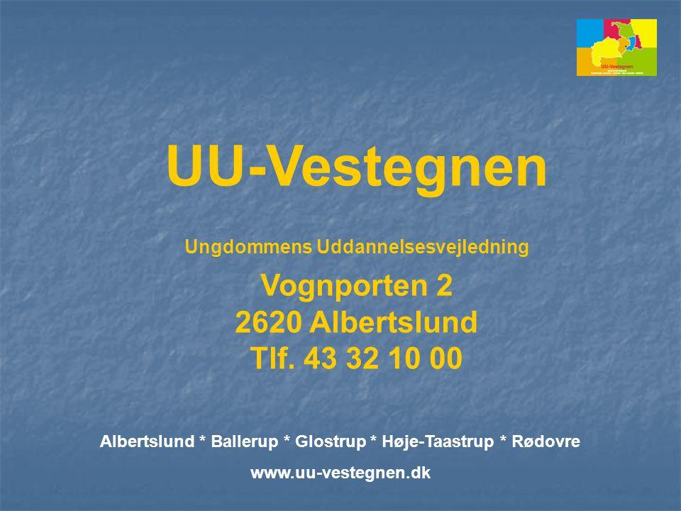 UU-Vestegnen Vognporten 2 2620 Albertslund Tlf. 43 32 10 00
