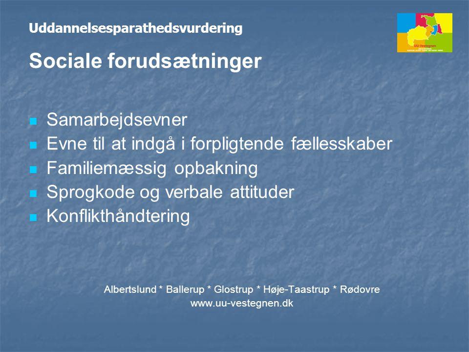 Albertslund * Ballerup * Glostrup * Høje-Taastrup * Rødovre