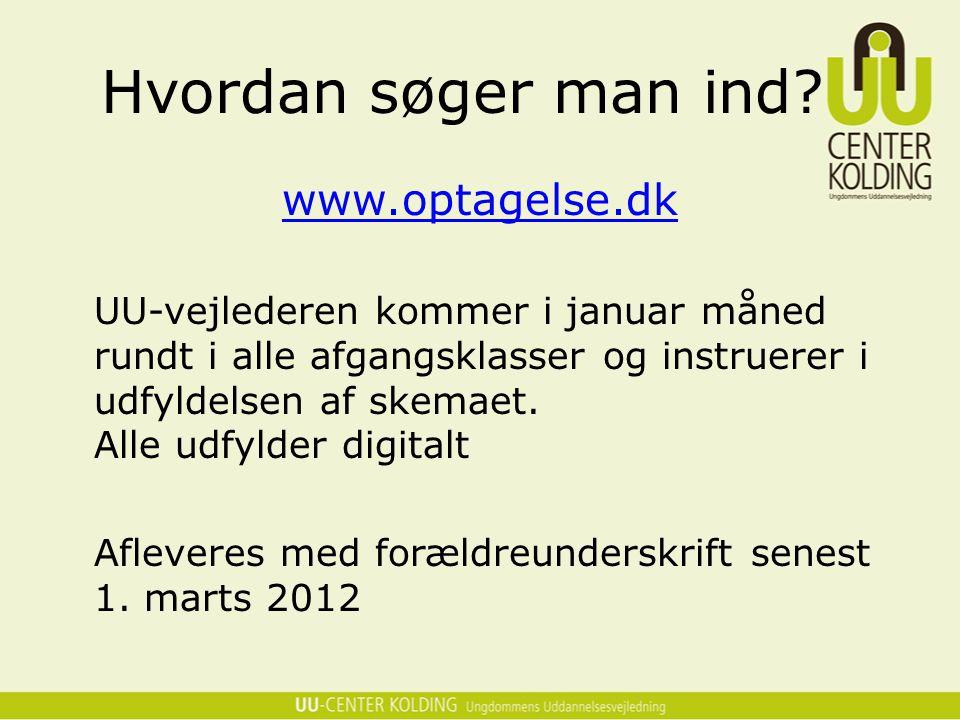 Hvordan søger man ind www.optagelse.dk