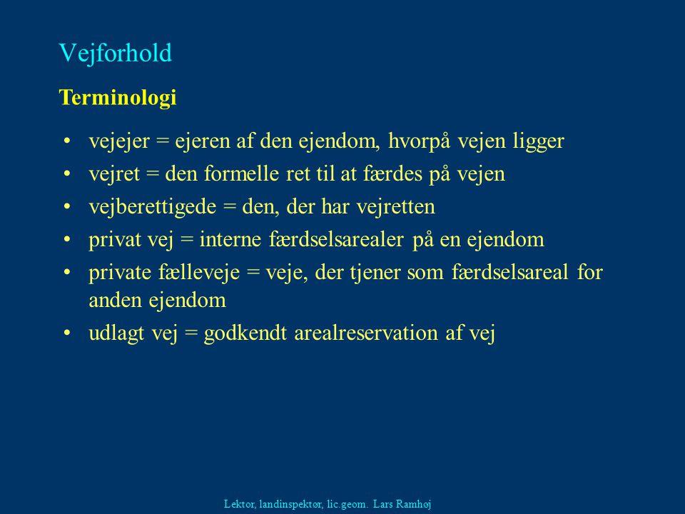 Vejforhold Terminologi