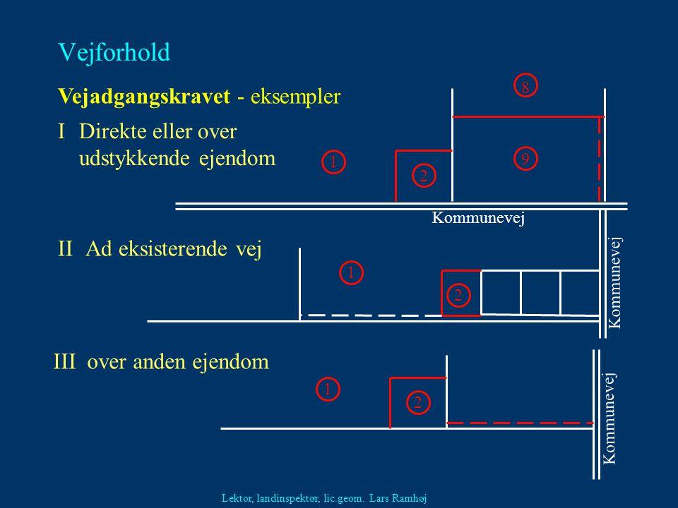 Vejforhold Vejadgangskravet - eksempler