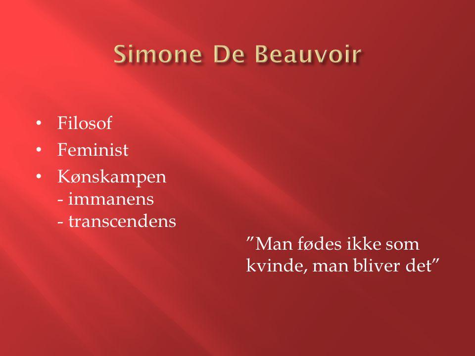 Simone De Beauvoir Filosof Feminist