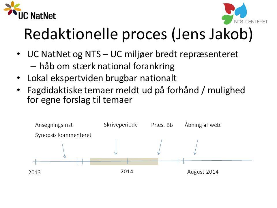 Redaktionelle proces (Jens Jakob)