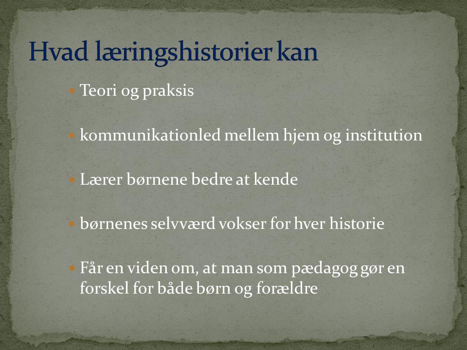 Hvad læringshistorier kan