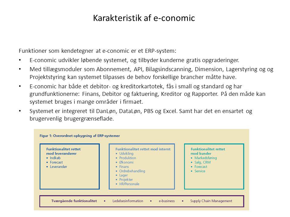 Karakteristik af e-conomic