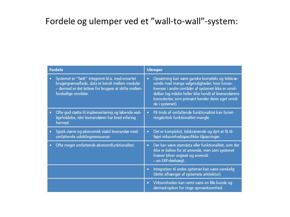 Fordele og ulemper ved et wall-to-wall -system: