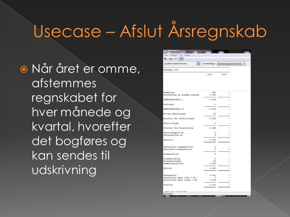 Usecase – Afslut Årsregnskab