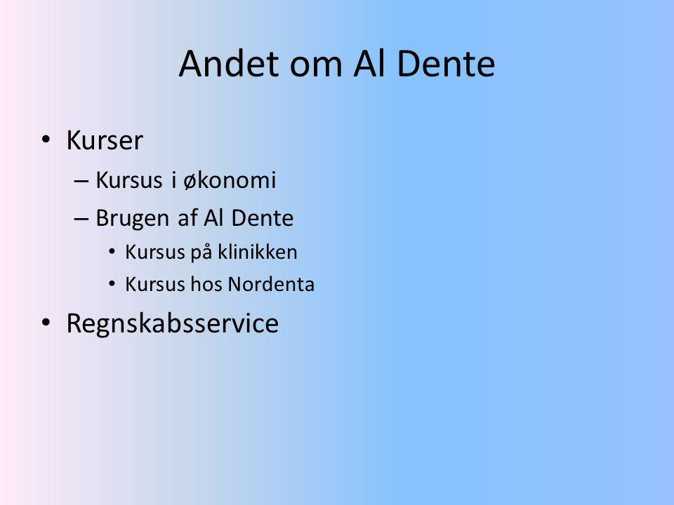 Andet om Al Dente Kurser Regnskabsservice Kursus i økonomi