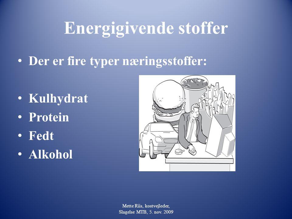 Energigivende stoffer