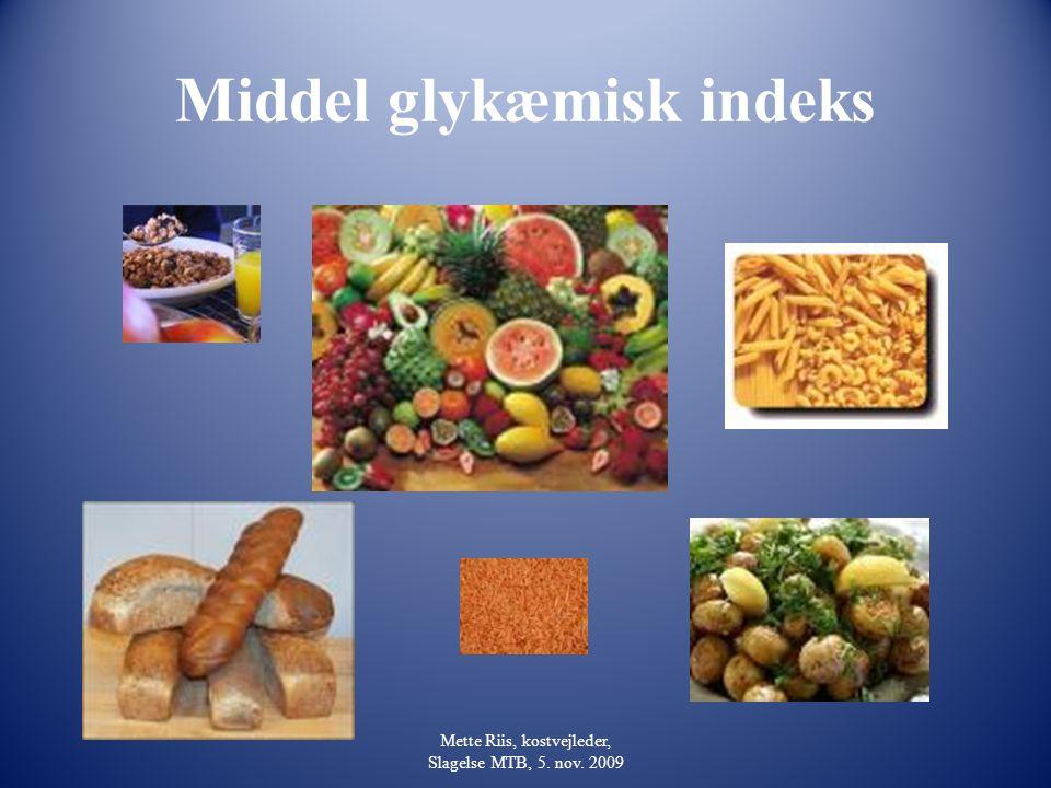 Middel glykæmisk indeks