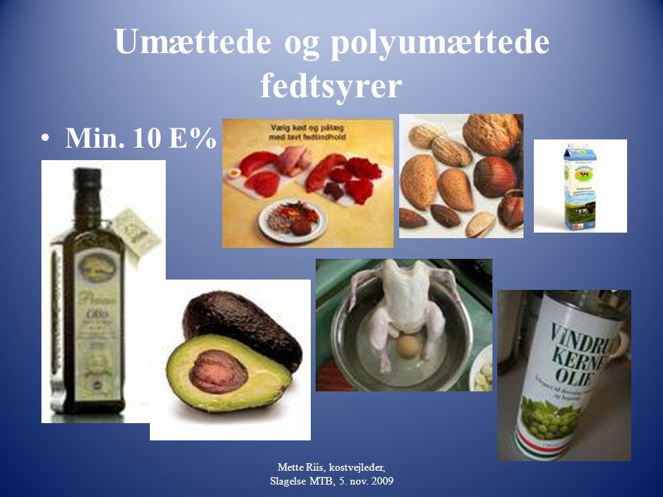Umættede og polyumættede fedtsyrer