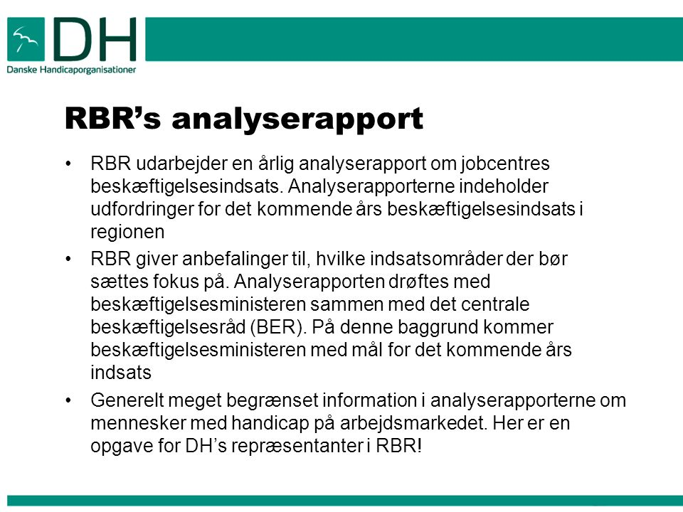 RBR's analyserapport