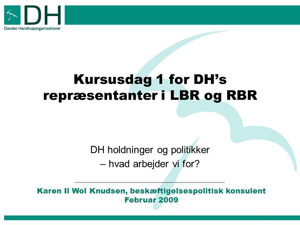 Kursusdag 1 for DH's repræsentanter i LBR og RBR