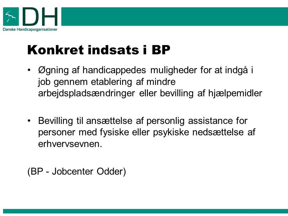 Konkret indsats i BP