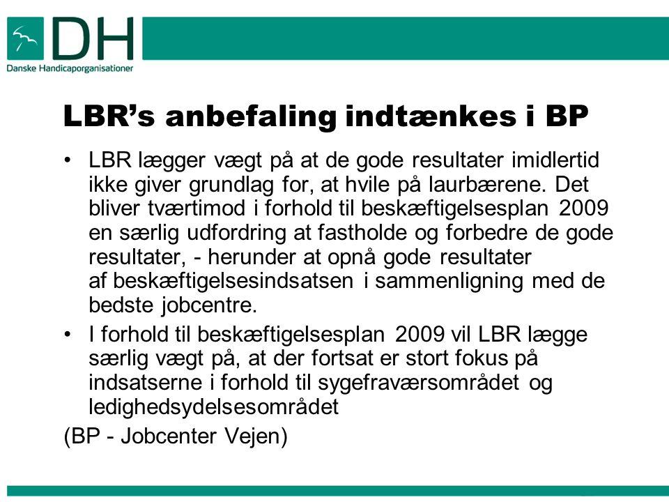 LBR's anbefaling indtænkes i BP
