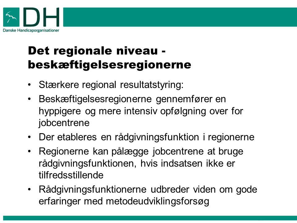 Det regionale niveau - beskæftigelsesregionerne