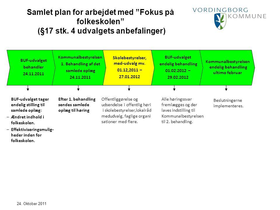 Samlet plan for arbejdet med Fokus på folkeskolen (§17 stk