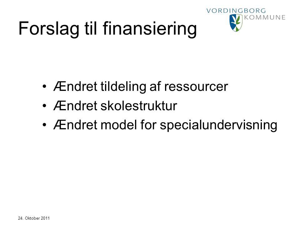 Forslag til finansiering