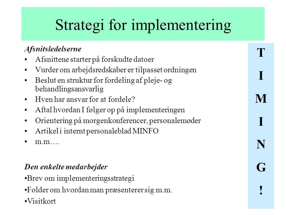 Strategi for implementering