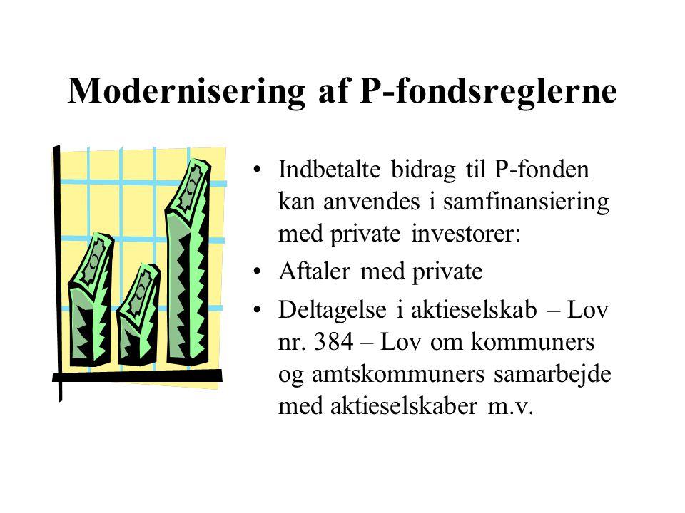 Modernisering af P-fondsreglerne