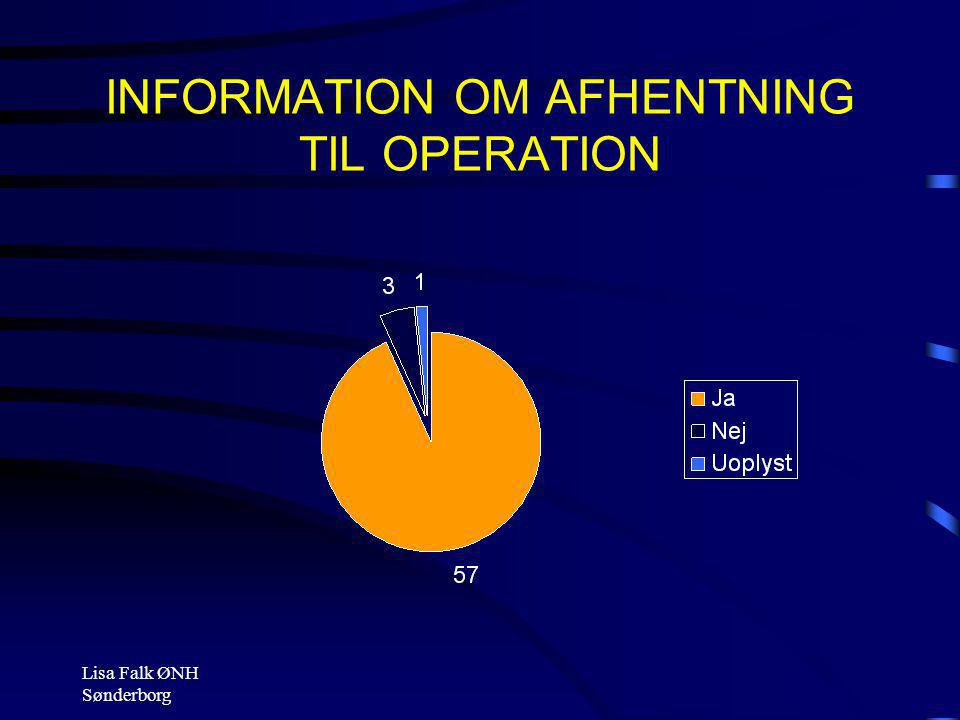 INFORMATION OM AFHENTNING TIL OPERATION