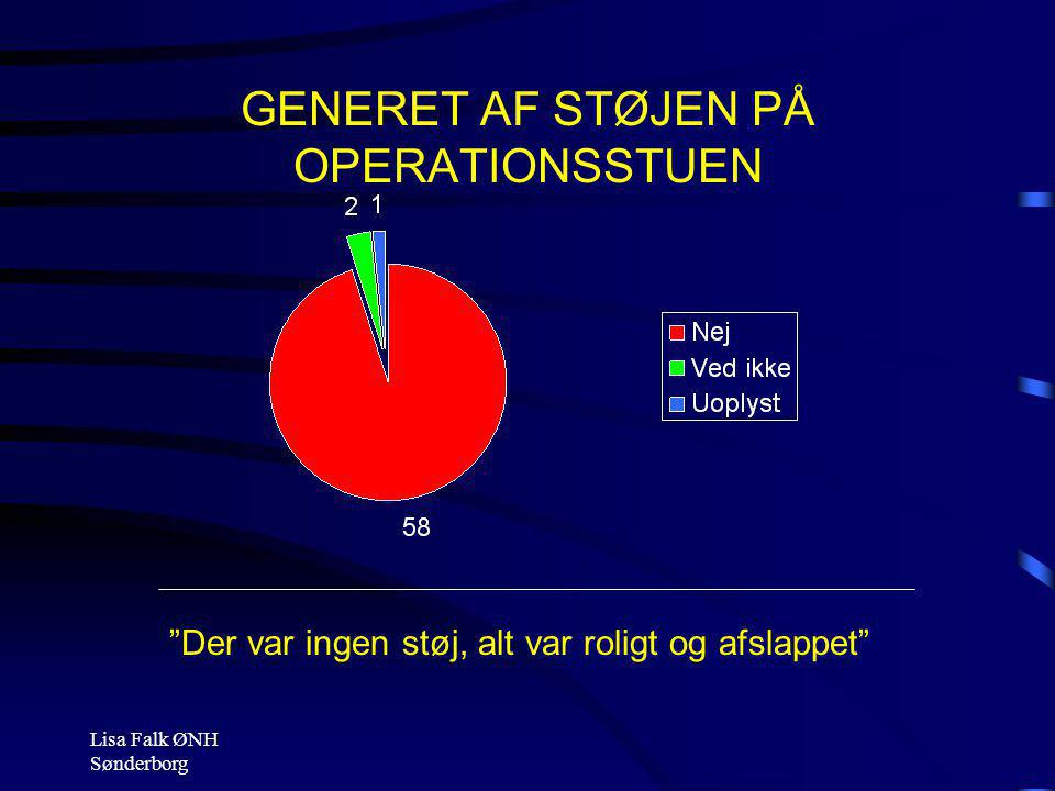 GENERET AF STØJEN PÅ OPERATIONSSTUEN
