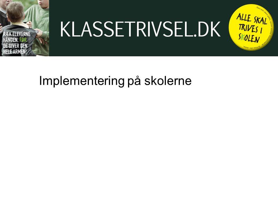 Implementering på skolerne