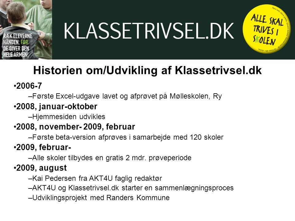 Historien om/Udvikling af Klassetrivsel.dk