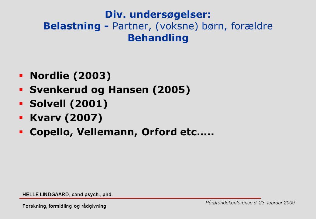 Copello, Vellemann, Orford etc…..