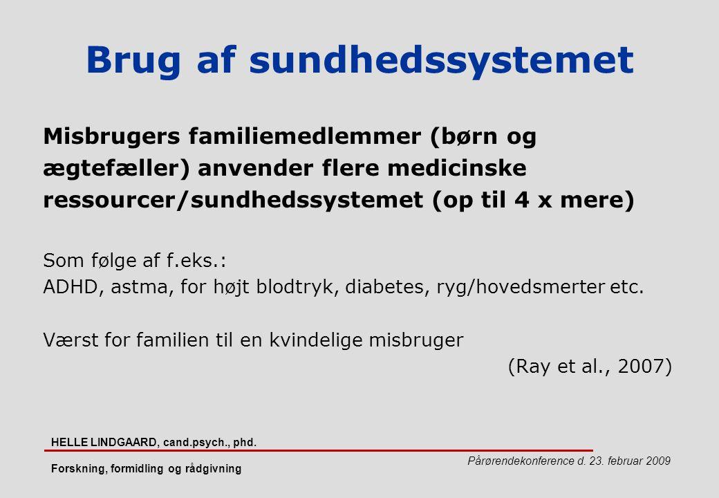 Brug af sundhedssystemet