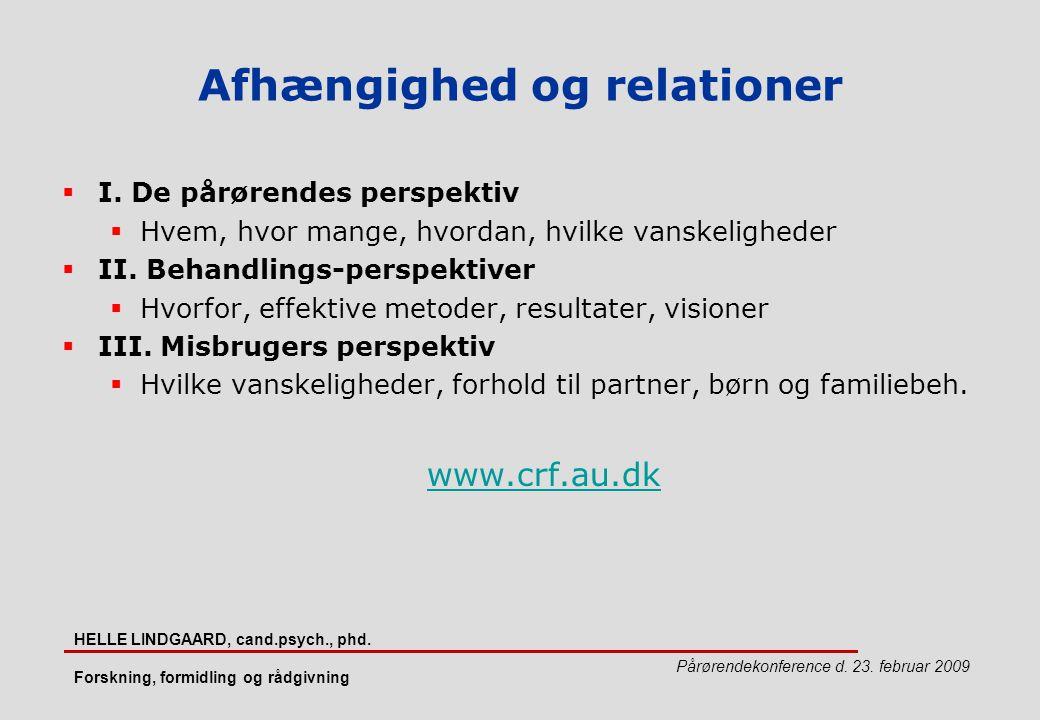 Afhængighed og relationer