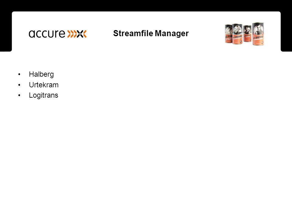 Streamfile Manager Halberg Urtekram Logitrans