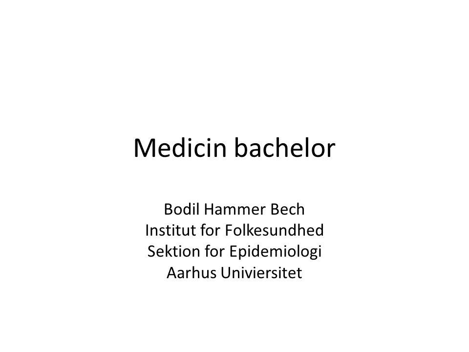 Medicin bachelor Bodil Hammer Bech Institut for Folkesundhed