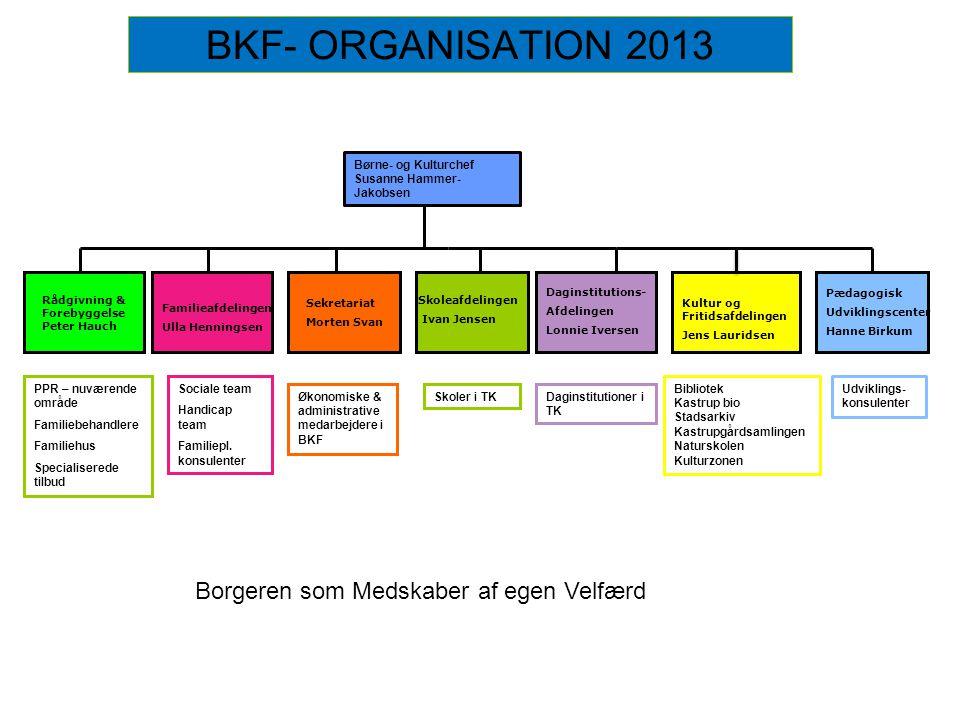 BKF- ORGANISATION 2013 Borgeren som Medskaber af egen Velfærd