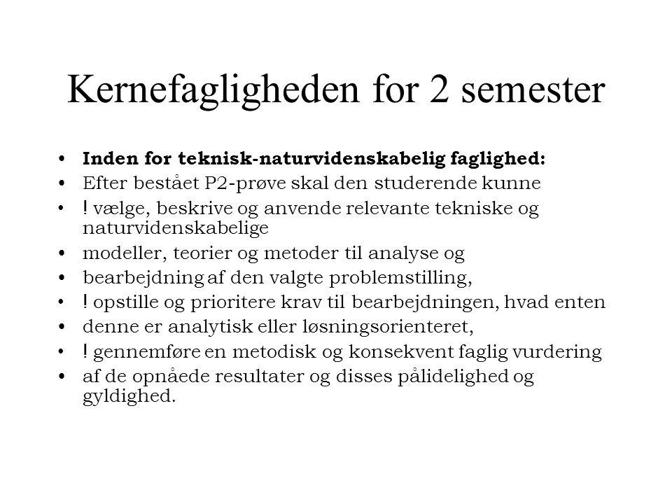 Kernefagligheden for 2 semester