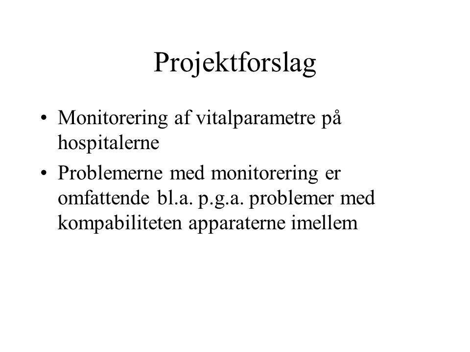Projektforslag Monitorering af vitalparametre på hospitalerne