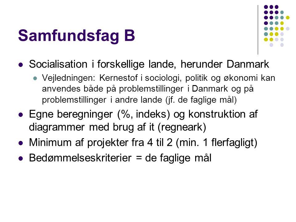 Samfundsfag B Socialisation i forskellige lande, herunder Danmark